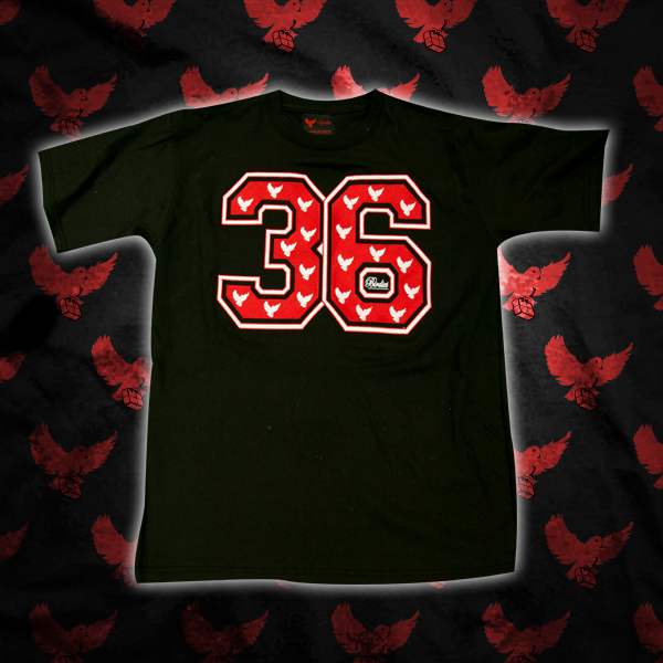 Image of Red/White 36 T Shirt