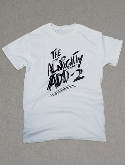 "Image of ""Almighty Add-2"" T-Shirt (White)"