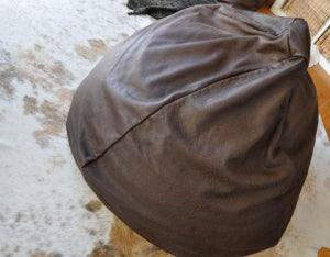 "Image of Brown 'Natural Look"" Beanbag"