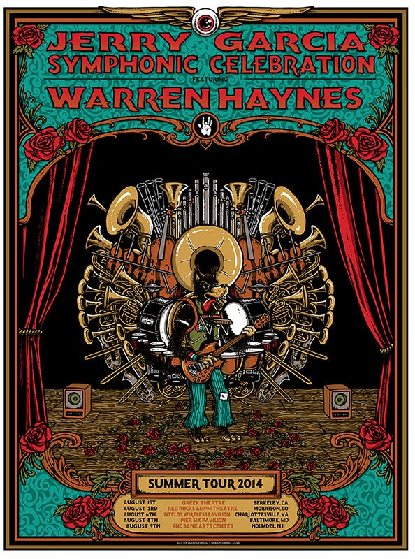 Image of JERRY GARCIA SYMPHONIC CELEBRATION w/ WARREN HAYNES Tour 2014