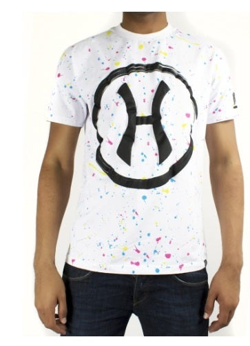 Image of Hudson NYC Pollock H Twisted Cotton Short Sleeve Knit White
