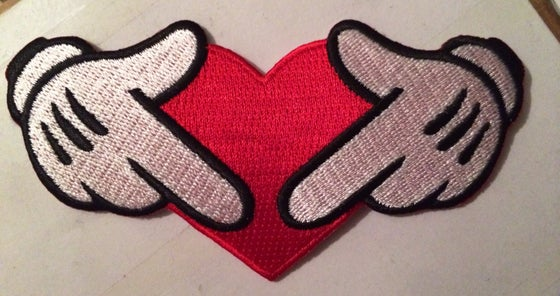 Image of 2 Gloves 1 HEART PATCH