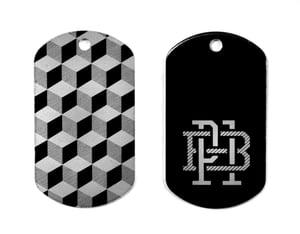 """Image of """"Monogram"""" Key Tag (P1B-A0500)"""