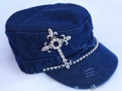 Image of Cadet hat w/Words  Crystal Cross