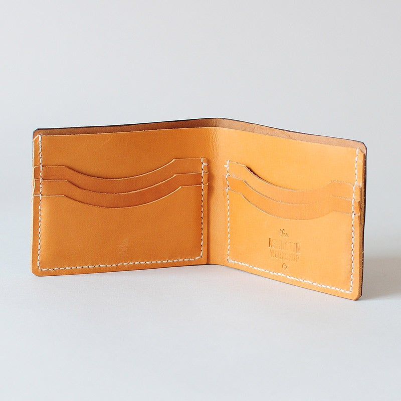 Image of Premium Bi-Fold Wallet - Horween® Shell Cordovan Whiskey & Cashew