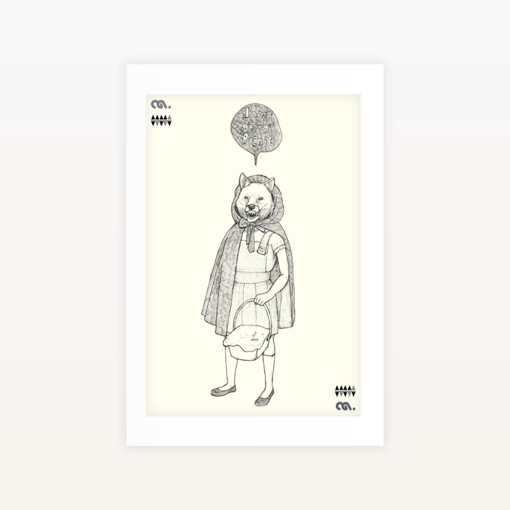 RedHood - Ltd edition Screen print