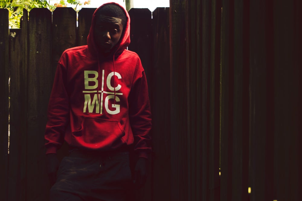 Image of Red BCMG Holy Grail Hoodie