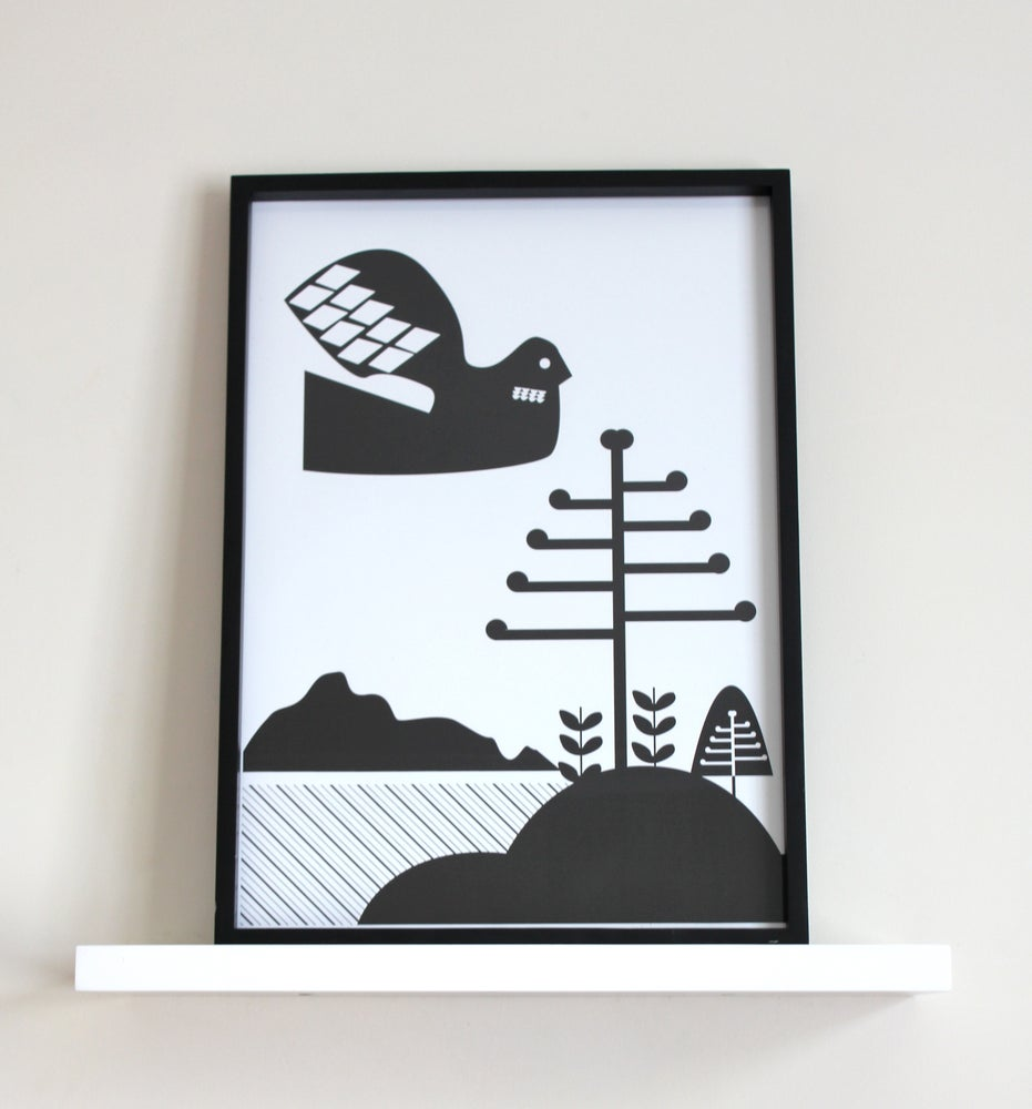 Image of Bird & Trees Print