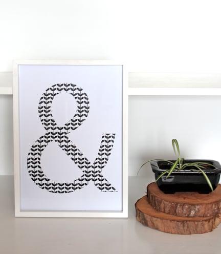 Image of & Typography Print