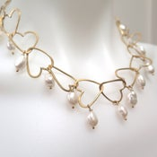 Image of Heart Chain with Freshwater Pearls