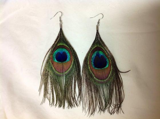 Image of Peacock Earrings