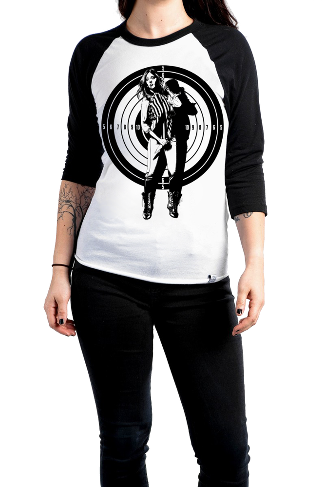 Image of Keep Your Eye On The Target (Raglan Tee)