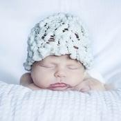 Image of White Popcorn Newborn Boutique Hat