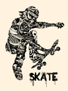Image of Skate Anatomy Art Print
