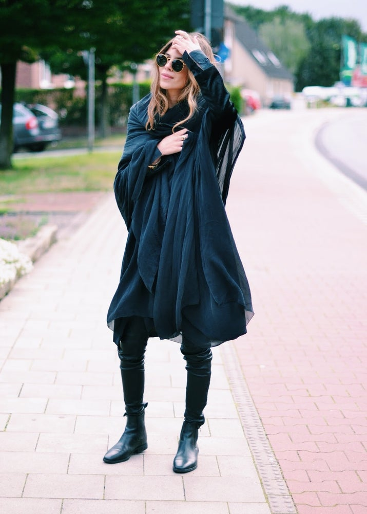 Image of Black Silk Scarf