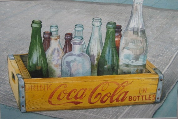 "Image of ""Collectibles"" original watercolor"
