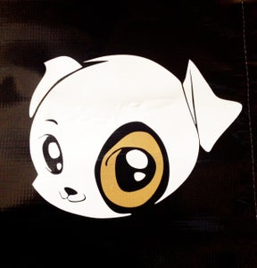 Image of Cartoon pitbull sticker decal