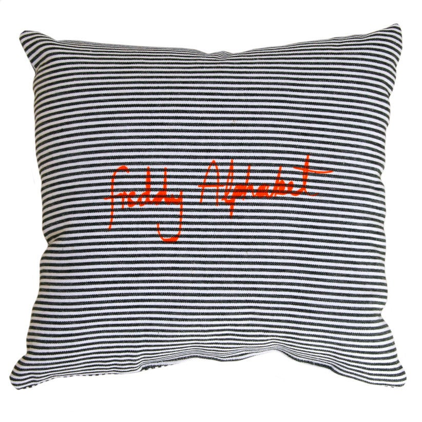 Image of Pirate Cushion - Thin Dark Blue Stripe