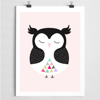 Image of OWLY SLEEPS giclee print