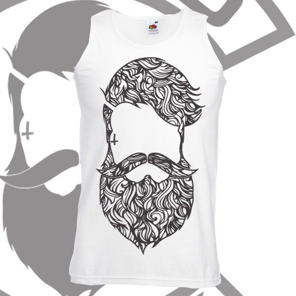 Image of Beard & Ink Large Patterned Logo Vest