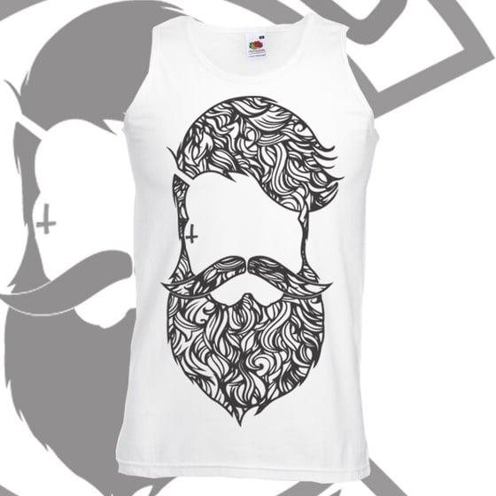 Image of Beard & Ink Large Patterned Logo Vest