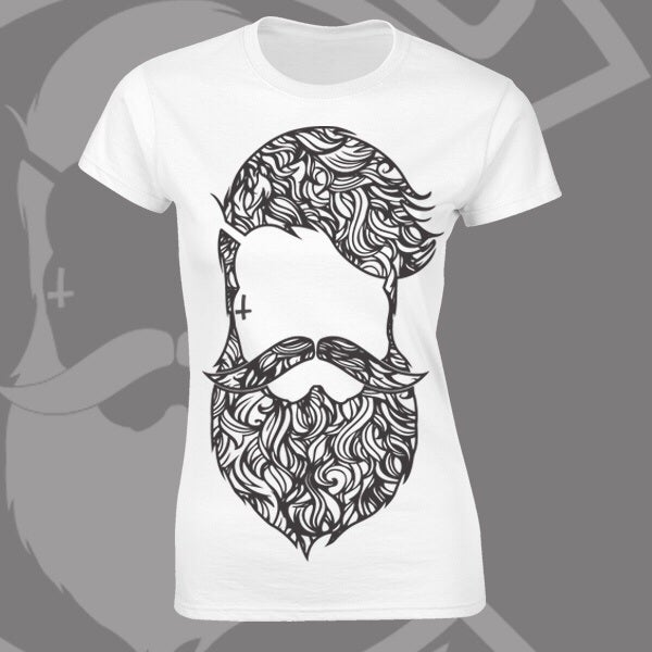 Image of Beard & Ink Large Patterned Logo Tee
