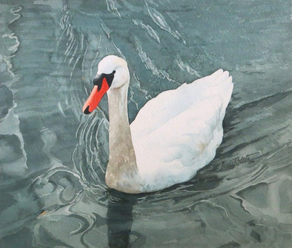 "Image of ""The Trumpeter"" original watercolor"