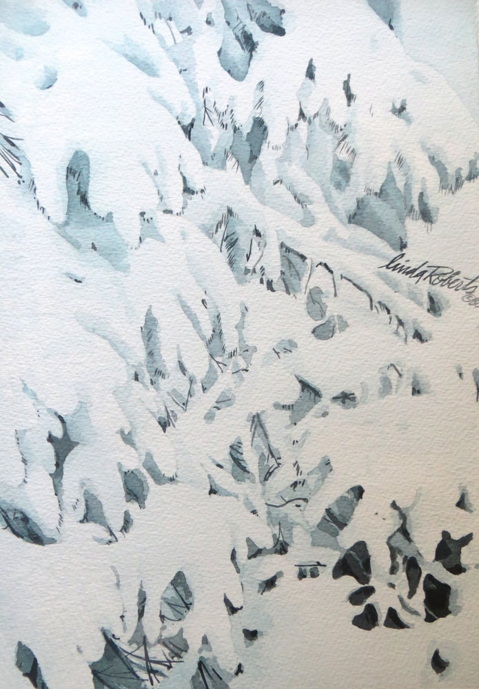 "Image of ""Winter Pine"" original watercolor"