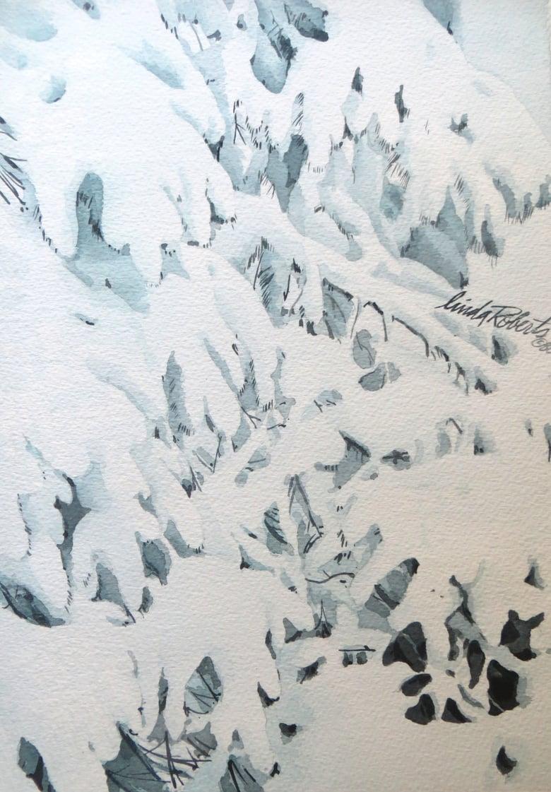 """Image of """"Winter Pine"""" original watercolor"""