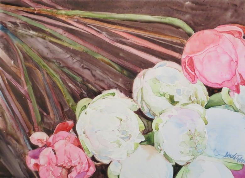 """Image of """"Peonies"""" original watercolor"""