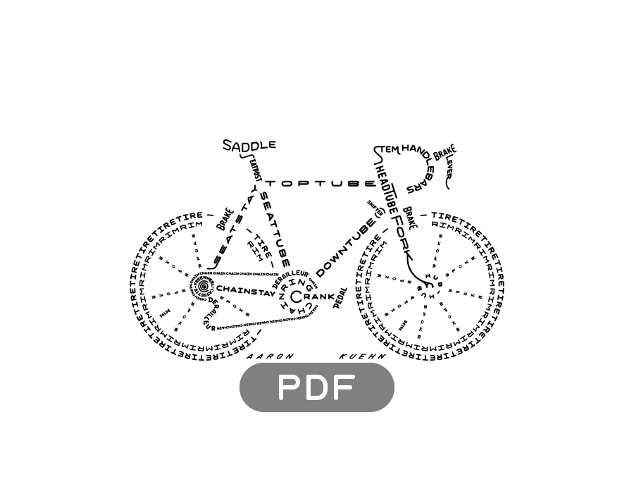 Image of Bicycle Typogram - PDF