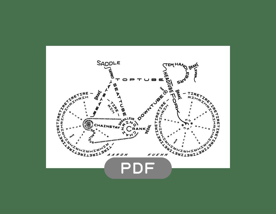Image of Bicycle Typogram - PDF