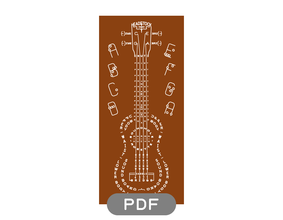 Image of Ukulele Typogram - PDF