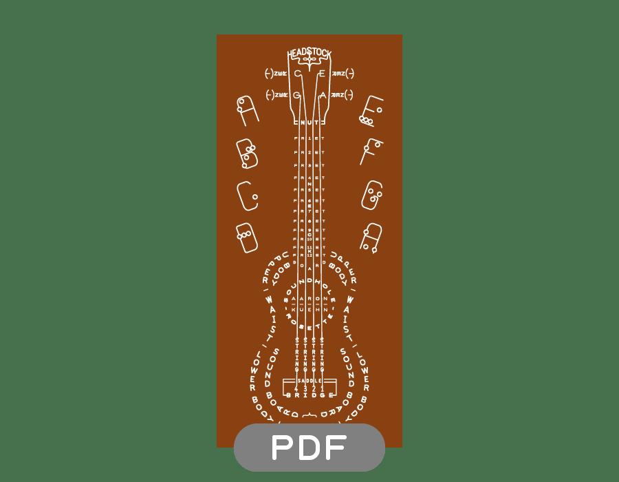 Image of Ukulele Typogram - PDF