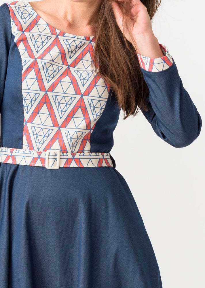 Image of COCO PARTY DRESS: Denim and Diamonds