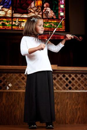 Image of Girls' Jersey Gored Skirt