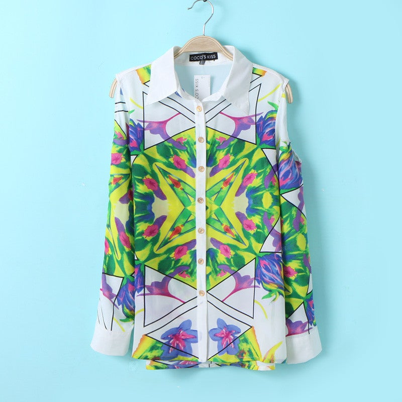 Image of Pop Of Colour Blouse