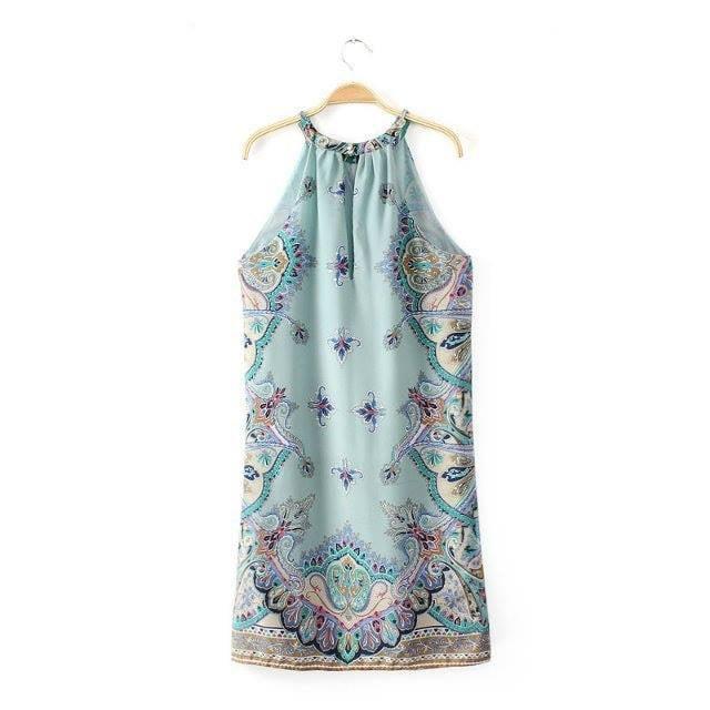 Image of Blue Bohemian Dress