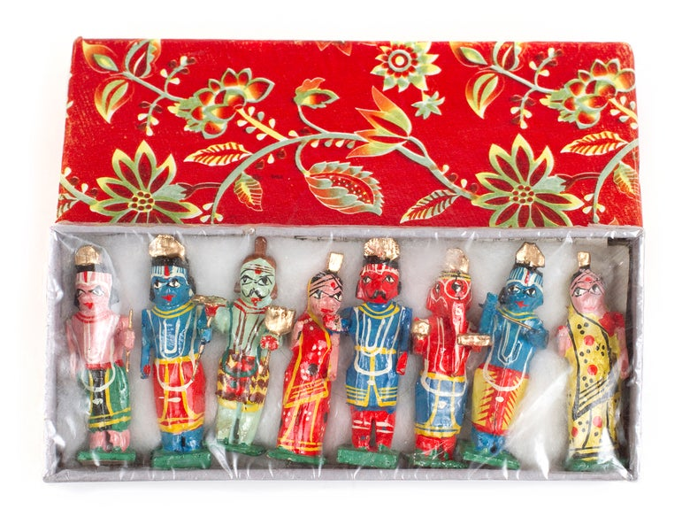 Image of Handmade and decorated set of Hindu God figures / Varanasi