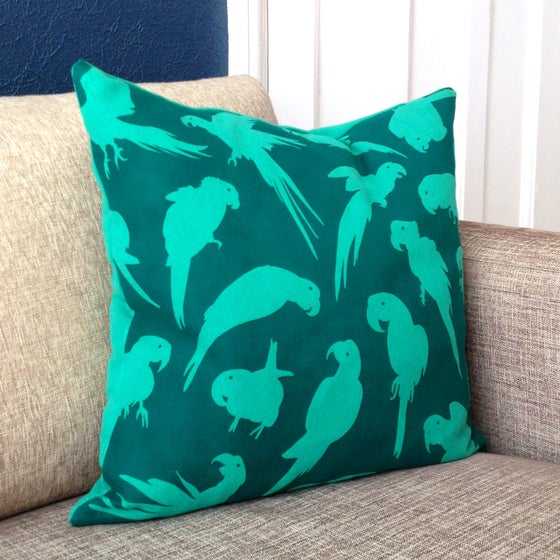 Image of Emerald Green Parrot Cushion