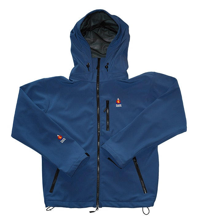 Image of Antero II Jacket Ice Blue Hybrid Polartec Made in Colorado