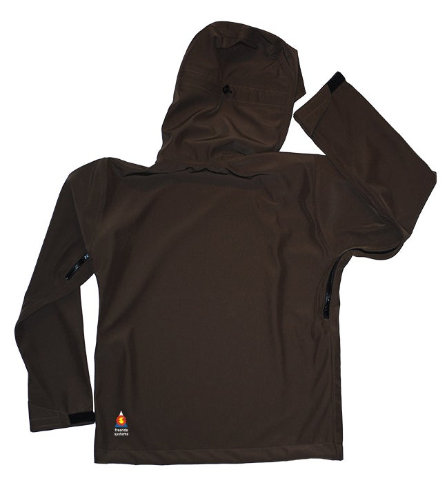 Image of Antero II Jacket Walnut Brown Hybrid Softshell Polartec Made in Colorado