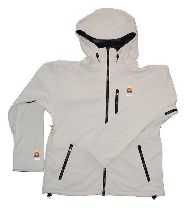 Image of Antero II Jacket Yeti White Hybrid Softshell Made in Colorado
