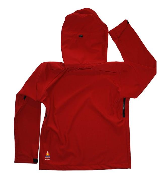Image of Antero II Jacket Brick Red Hybrid Softshell Polartec Made in Colorado