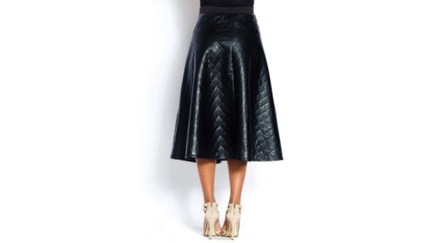 Image of Diamond Leather Skirt