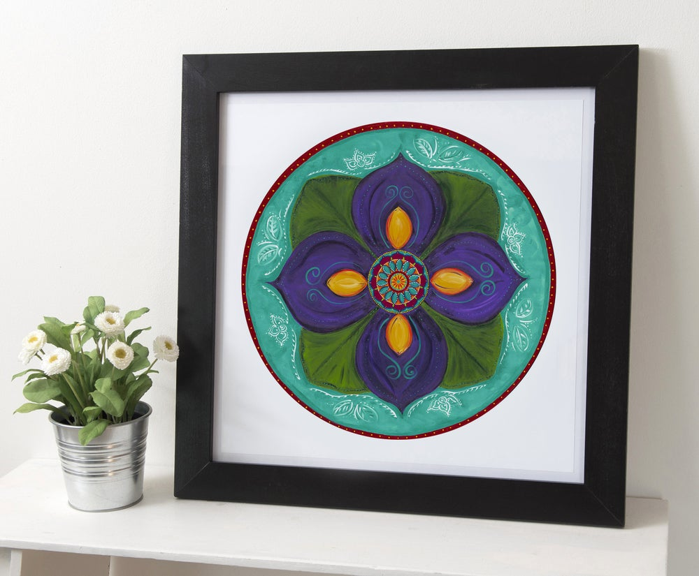 "Image of ""Spiritual awakening""- Purple Lotus Bud Archival Paper Print (unframed)"