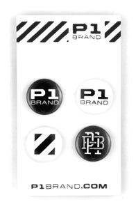 "Image of ""Logo"" Button Set, 4 (P1B-A508)"