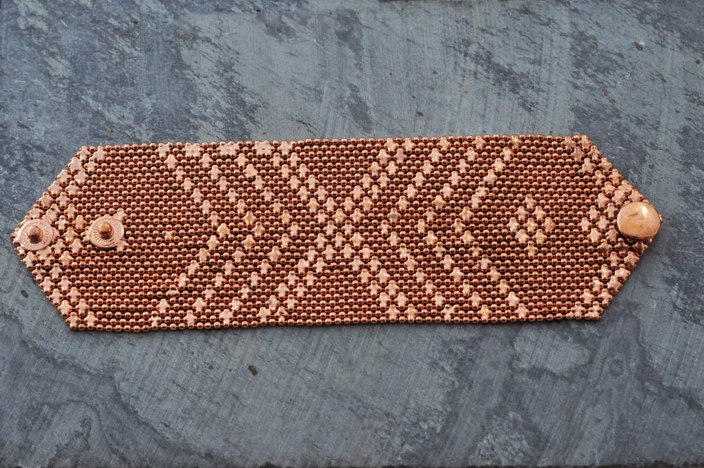 Image of Medium armour bracelet in copper