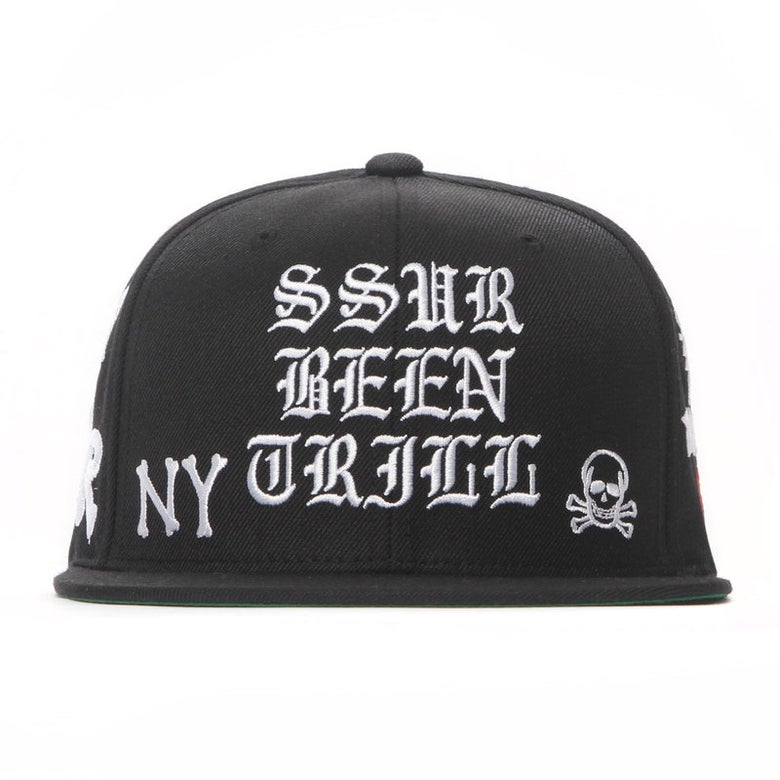 Image of SSUR x BEEN TRILL - All Over Snapback (Black White)