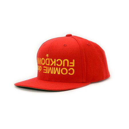 Image of SSUR(THE CUT) - CMDFD Upside Down Snapback (Red)